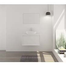 SalesFever Badezimmer Set 80 cm, 2 tlg. Holzwerkstoff (MDF) Weiß 391679