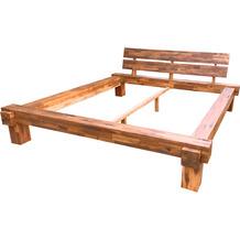 SalesFever Balkenbett aus Akazie 200 x 200