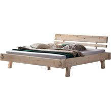 SalesFever Balkenbett aus Fichtenholz 200x200 cm Massivholz Natur 393789