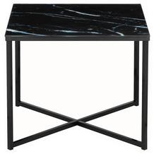 SalesFever Beistelltisch 50x50x42 cm Metall, Glas Schwarz 394779
