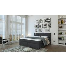 SalesFever Boxspringbett 180x200 cm LED Textil Grau 382134