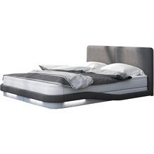 SalesFever Boxspringbett 180x200 cm weiß/grau LED