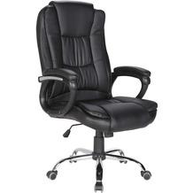 SalesFever Bürostuhl aus Kunstleder schwarz
