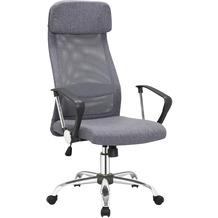 SalesFever Bürostuhl grau mit Mesh und Stoffbezug
