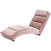 SalesFever Chaiselongue rose Samt