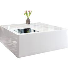 SalesFever Couchtisch 100x100x45 cm weiß hochglanz lackiert