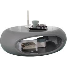 SalesFever Couchtisch 109x59x34 cm grau Fiberglas hochglanz lackiert