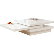 SalesFever Couchtisch 120X80 cm weiß hochglanz lackiert