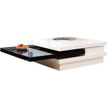 SalesFever Couchtisch 120X80 cm weiß/schwarz hochglanz lackiert