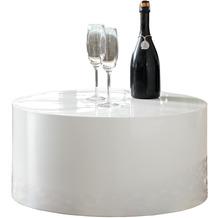 SalesFever Couchtisch Ø 60 cm rund weiß hochglanz lackiert