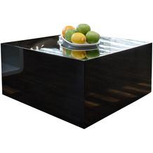SalesFever Couchtisch 60x60x30cm schwarz hochglanz lackiert