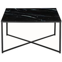 SalesFever Couchtisch 80x80x45 cm Metall, Glas Schwarz 394717