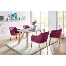 SalesFever Essgruppe 5 tlg. 160x90 cm 393161 Esszimmerstühle lila