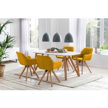 SalesFever Essgruppe 5 tlg. 160x90 cm 393314 Esszimmerstühle gelb