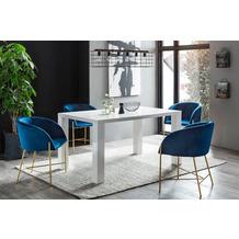 SalesFever Essgruppe 5 tlg. 160x90 cm 393482 Esszimmerstühle blau