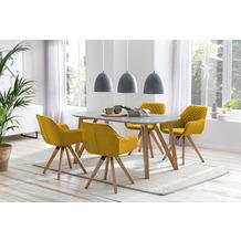 SalesFever Essgruppe 5 tlg. 180x90 cm 393260 Esszimmerstühle gelb