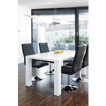 SalesFever Essgruppe 5 tlg. 180x90 cm 393413 Esszimmerstühle schwarz
