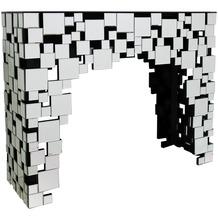SalesFever Konsolentisch aus MDF mit Spiegelglas Spiegelglas, MDF Verspiegelt 394625