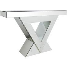 SalesFever Konsolentisch aus MDF mit Spiegelglas Spiegelglas, MDF Verspiegelt 394656
