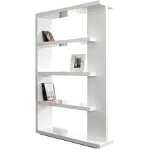 SalesFever Raumteiler 128x30x180 cm weiß hochglanz lackiert, mit 4 Böden