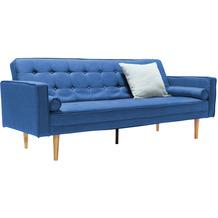 SalesFever Schlafsofa 205x84x86 cm blau