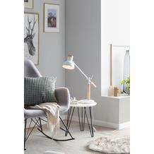SalesFever Schreibtischlampe verstellbar Metall, Holz Weiß, eichefarbig 393987