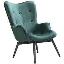 SalesFever Sessel Grün Samt Metall, Samt (100% Polyester) Grün, Schwarz 394144