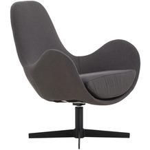 SalesFever Sessel mit Drehfunktion Dunkelgrau, Schwarz 395646