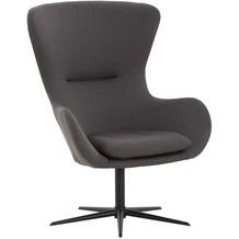SalesFever Sessel mit Drehfunktion Dunkelgrau, Schwarz 395653