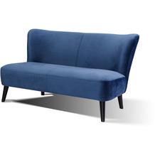 SalesFever Sofa Retro Samt blau