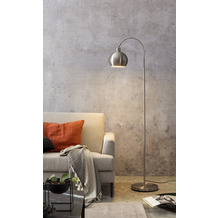 SalesFever Stehlampe aus Metall in Edelstahloptik Metall Silber 393864