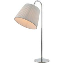 SalesFever Tischlampe rund Edelstahl, Latex Weiß, Chromfarben 392959