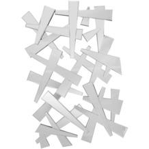 SalesFever Wandspiegel rechteckig Splitterdesign Glas, Holz verspiegelt 391822