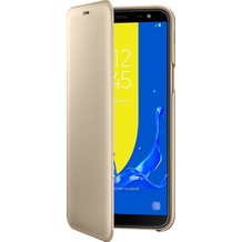 Samsung Flip Wallet, Galaxy J6 (2018), Gold