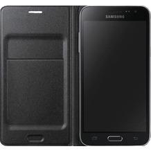 Samsung FlipCover mit Visitenkartenfach für Galaxy J1 (2016), schwarz