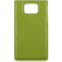 Samsung Kunstleder Akkudeckel für i9100 Galaxy S2, grün