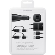 Samsung Multi-Ladekabel-Set, Schwarz