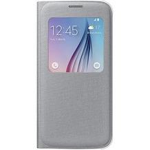 Samsung S-View Cover Textil, für Galaxy S6, Silber