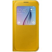 Samsung S-View Cover PU EF-CG920 für Galaxy S6, Gelb