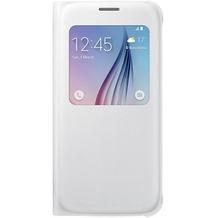 Samsung S-View Cover PU EF-CG920 für Galaxy S6, Weiß