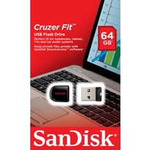Sandisk USB 2.0 Stick 64GB - Cruzer Fit SecureAccess Software