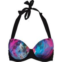 Sapph Moomba Vorgeformter Halter Bikini Blue Aquarel Print 70B