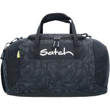satch Duffle Bag Sporttasche 44 cm schwarz reflektierende dreiecklinien ninja bermuda