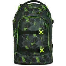 satch match Schulrucksack 45 cm Laptopfach off road schwarz, grün, neon