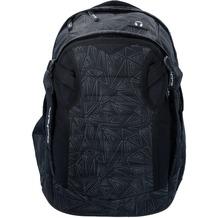 satch match Schulrucksack 45 cm Laptopfach schwarz reflektierende dreiecklinien ninja bermuda
