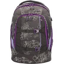 satch Pack Schulrucksack 45 cm Laptopfach schwarz-silber blumen