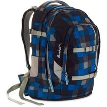 satch Schulrucksack Pack Airtwist 911 karo blau-grau