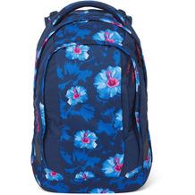 satch sleek Schulrucksack 45 cm waikiki blue blau, pink, weiß