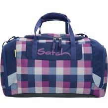satch Sporttasche 44 cm karo lila blau berry carry