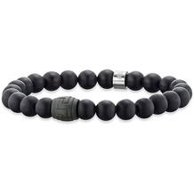 Save Brave Armband Andrew Onyx- und Carbonperlen Schwarz 22375